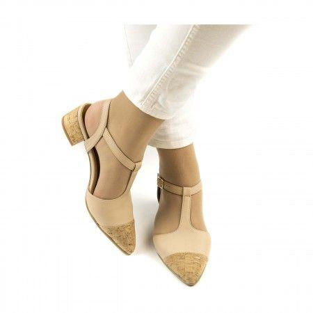 Duhr zapato con tacón ancho