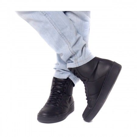 okul black ankle sneakers men vegan