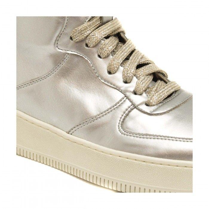 Okul Vegane silberfarbene Sneakers für Damen