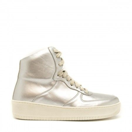 Okul Metal ankle sneakers silver women vegan
