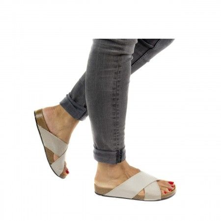 Re- Car Silber Recyceltes PET Vegane Sandalen