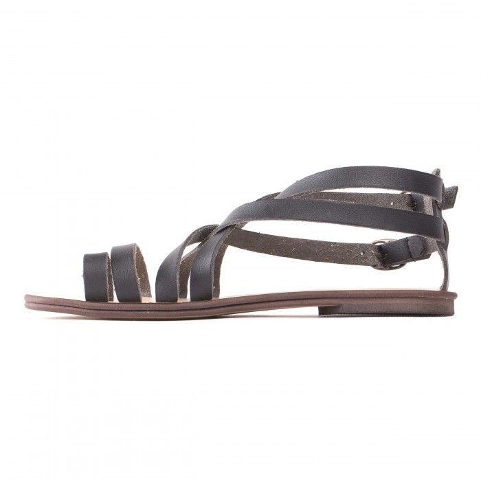 Itaca Black Vegan Sandals