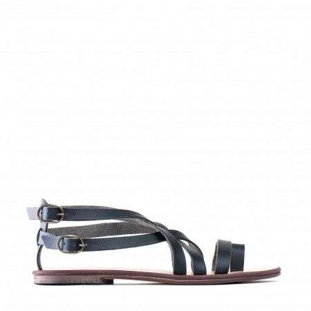 Itaca Black Vegane Sandals