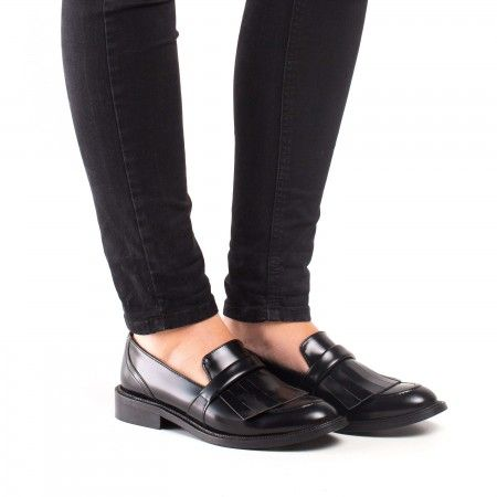 Brina Micro Black Vegan Loafer