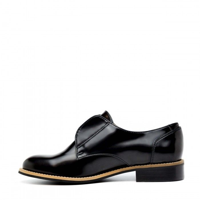 Clara Micro Woman vegan flat shoes black