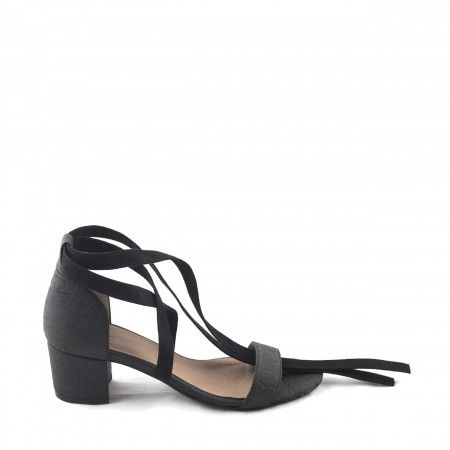 Clau Black Pinatex Vegan Sandals