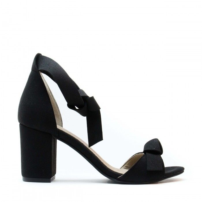 Estela Black Vegan Sandals