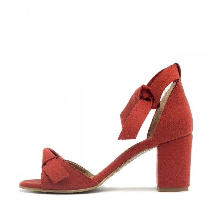 Estela Red Vegan Leather Shoes
