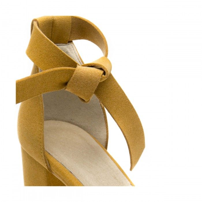 Estela Yellow Vegan Sandals