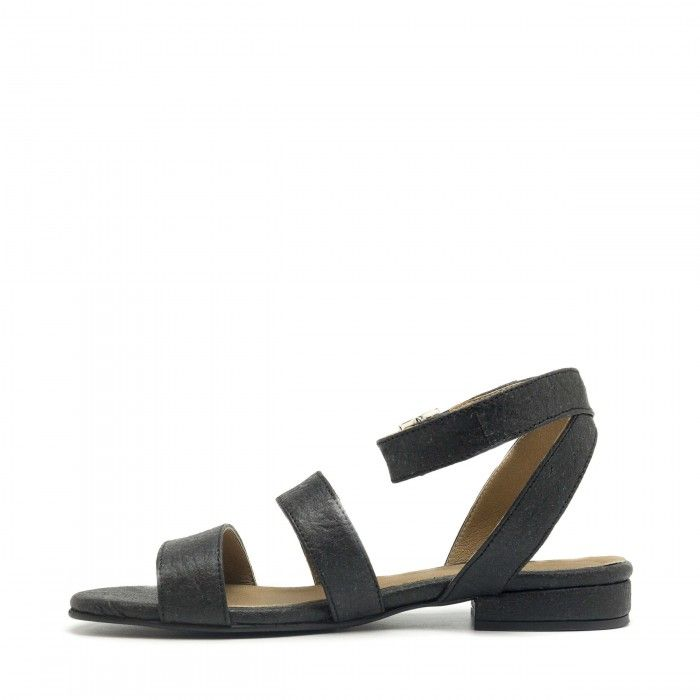 Gatria Black Pinatex Vegan Sandals