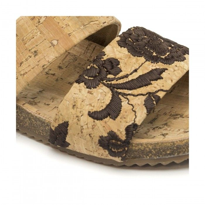 Hadir flat sandal made of cork women vegan