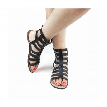 Hidra Black Vegan Sandals