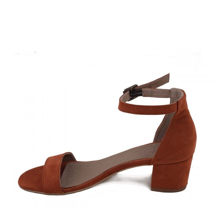 Irene Orange Vegan Sandals