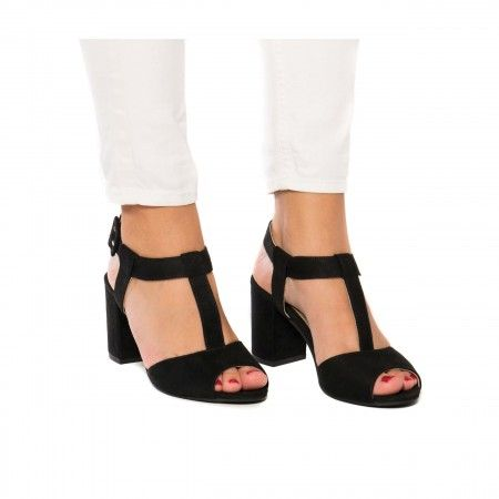 Kamila Black Vegan Sandals