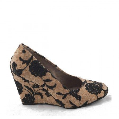 dalia chaussure compensée liège vegane femme