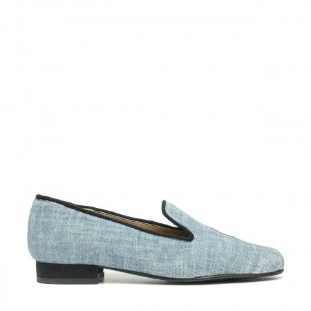 Kraz Blue loafer made with organic cotton women vegan