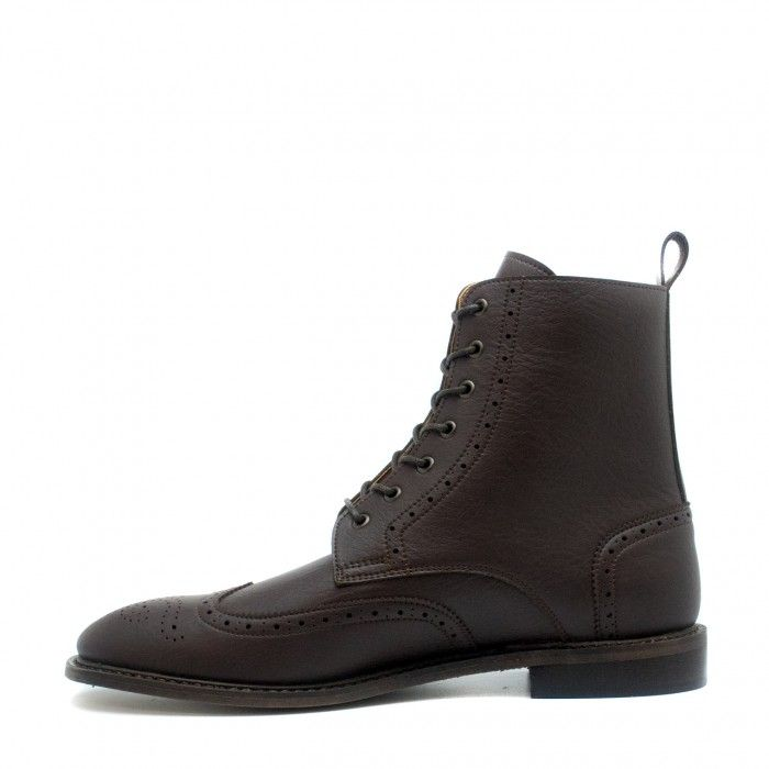 Alex Brown Botte végane homme taille basse lacets marron