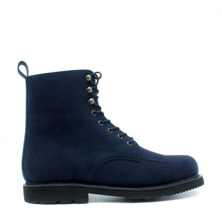 Andre blue short boots men laces vegan