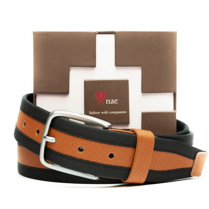 olot brown vegan belt