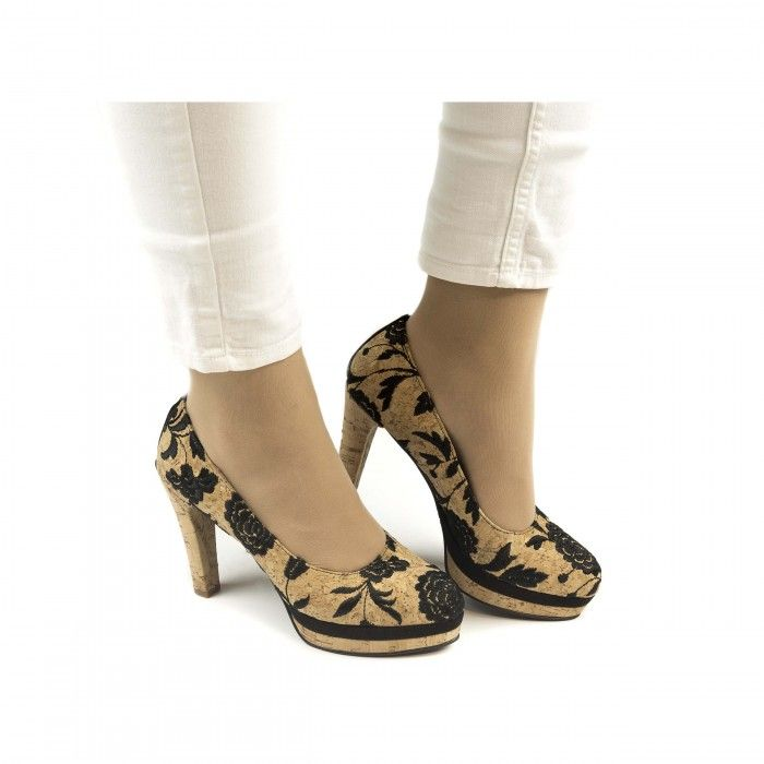 Cork Pump black  Vegane Schuhe