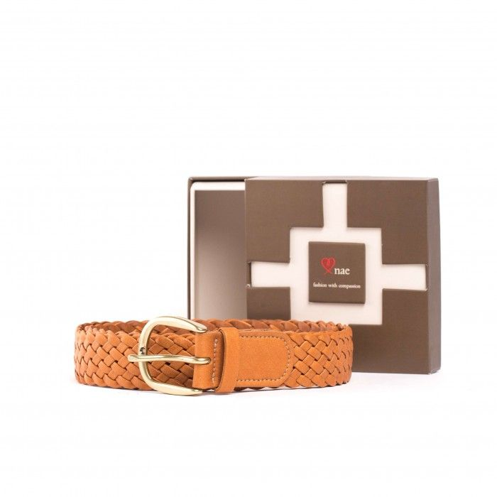 Vic brown vegan belt unisex
