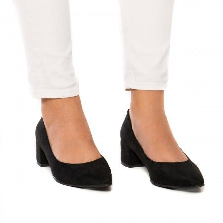 Malu Black Chaussure végane femme point toe