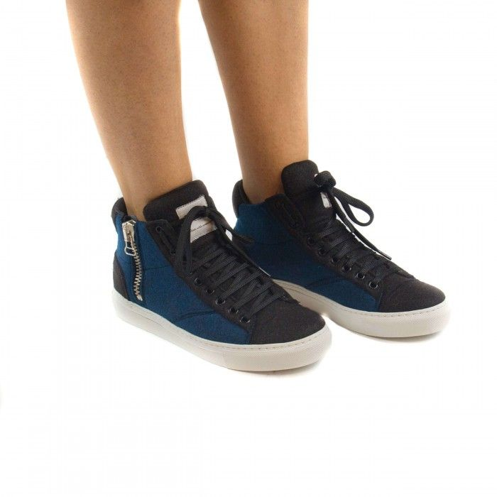 Milan Blue Vegan Sneakers