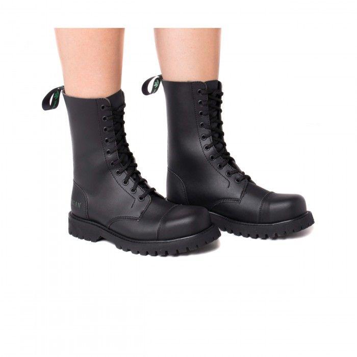 Vegan Boots Steel Cap Toe Man Woman