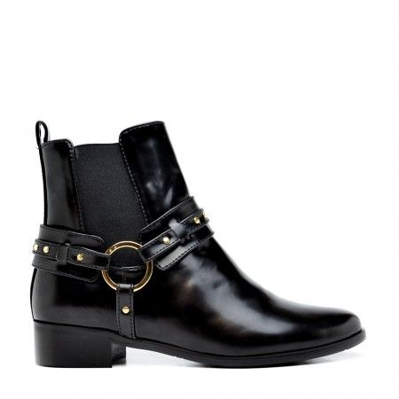 Neus Black Vegan Boots