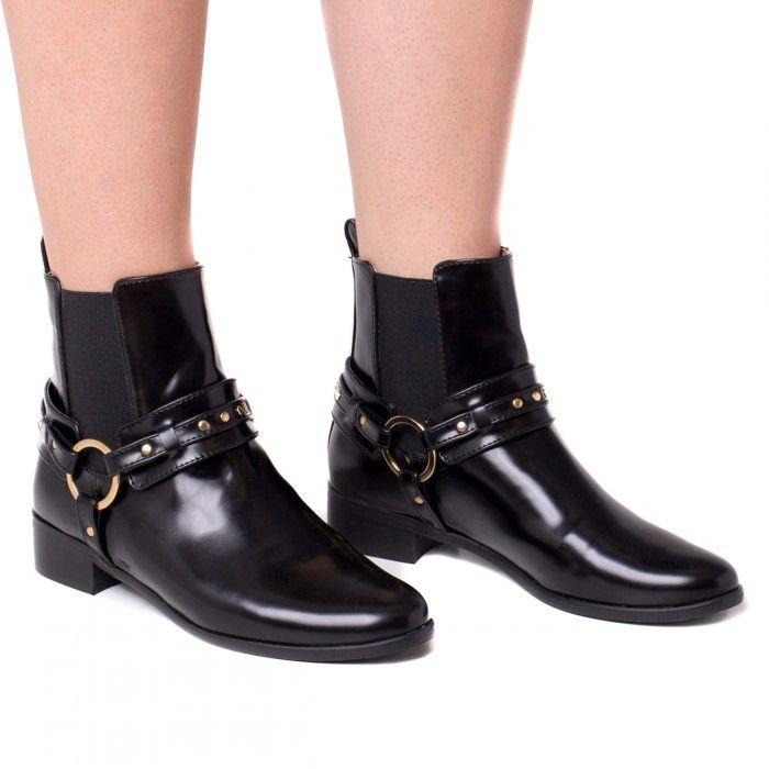 Neus Black Vegan Boots