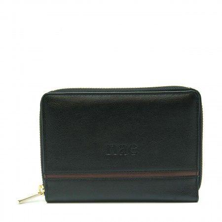 Eva portefeuille noir pour femme classique porte-cartes de poche végan
