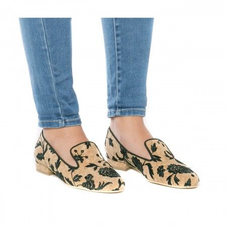 Nise Woman vegan loafer slipper shoe cork