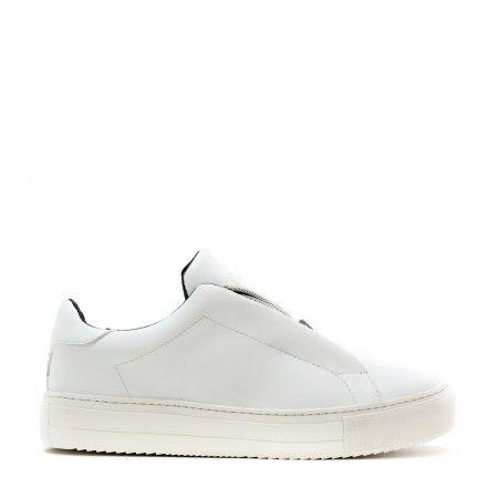 OnZip White Woman vegan sneaker zipper