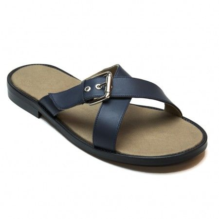 nicco blue flat sandal for men