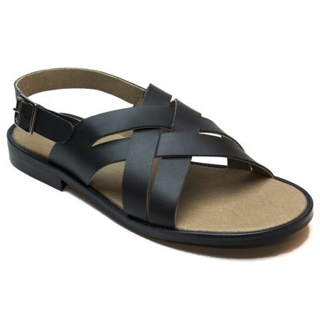 tino brown flat sandal for men
