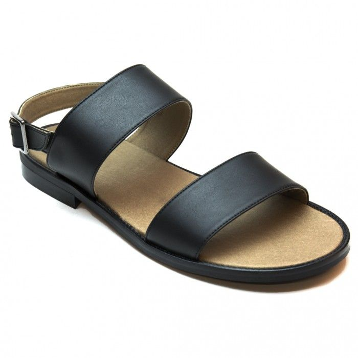 Vale Black Vegan Sandals