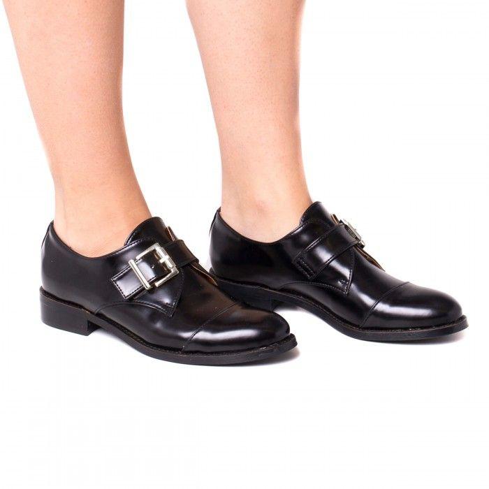 Vince Black Vegane damen Mönch Strap Schuhe schwarz