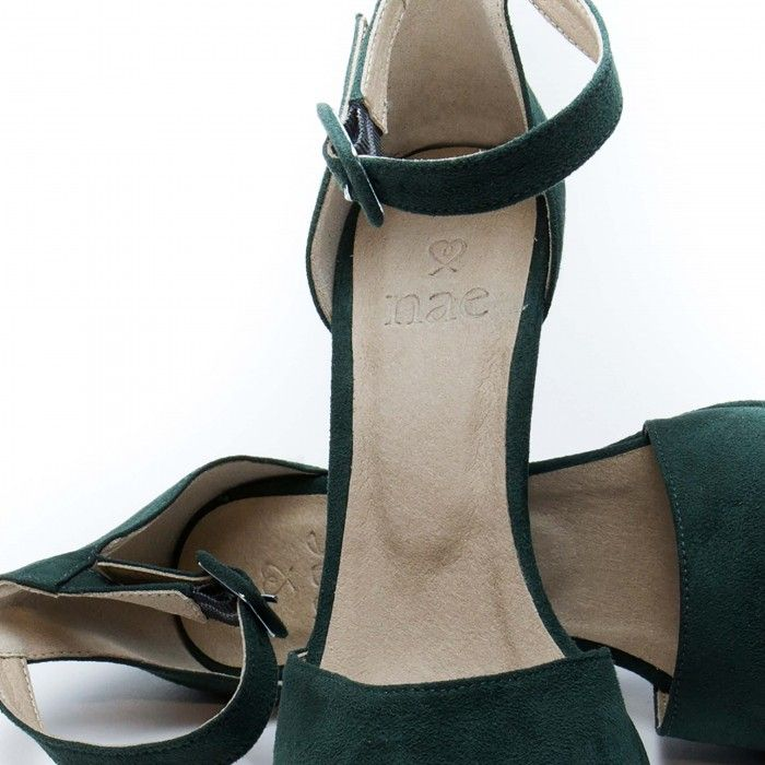Regina Green Vegan Sandals