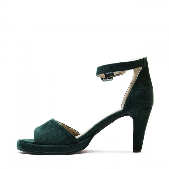 regina green ankle strap sandal women vegan