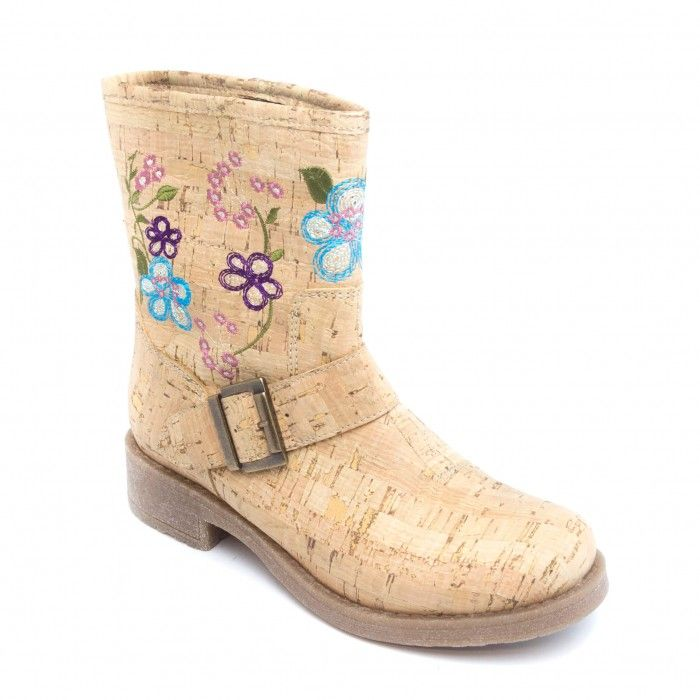 Vegan Biker cork Boot