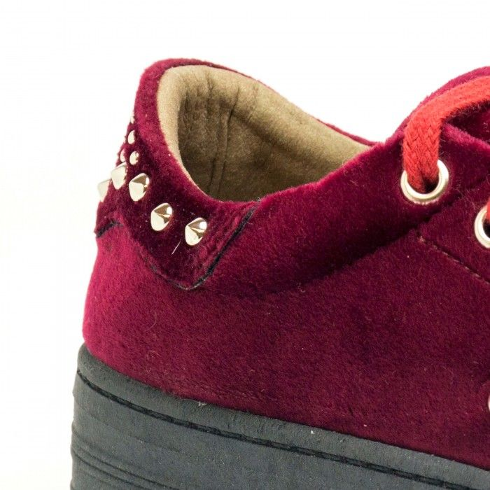 Wika Bordeaux woman vegan sneakers velvet bordeaux