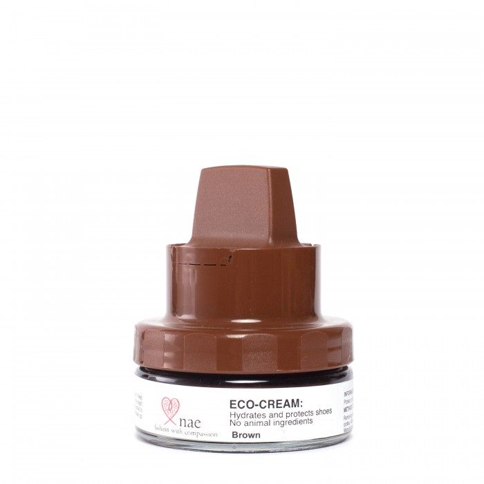 eco polish cream brown shoes vegan