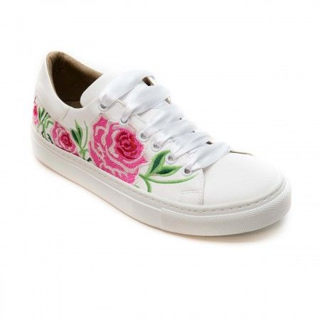 Rose White Vegan Sneakers