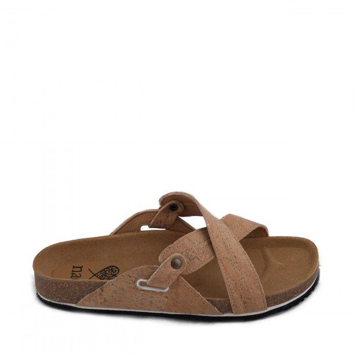 paxos cork flat sandal women vegan