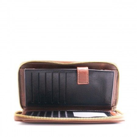 mia brown wallet