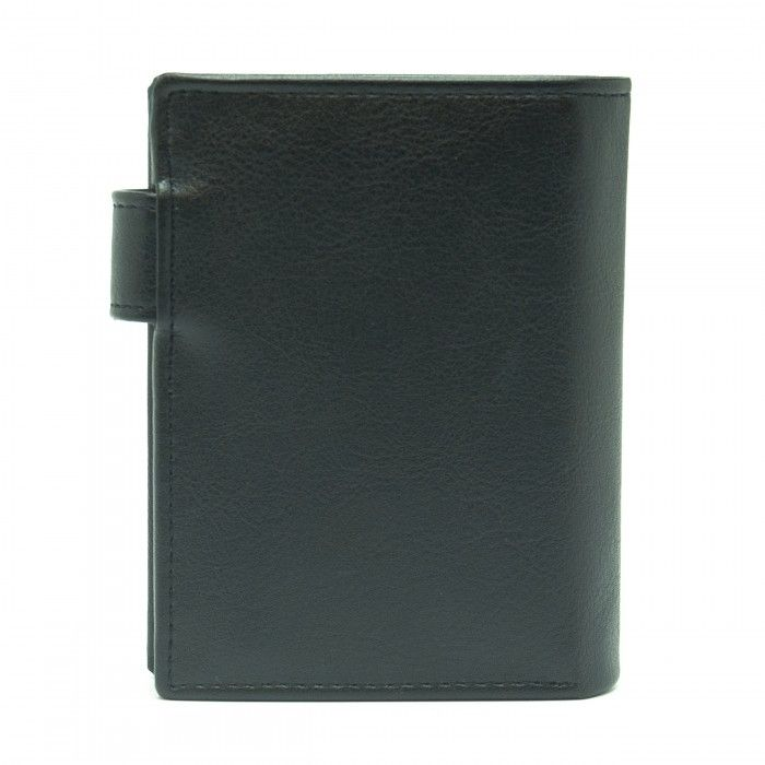 denver black wallet men clip classic coin pocket vertical vegan