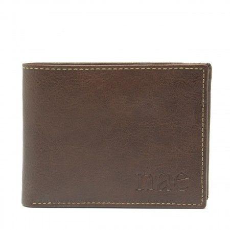 lyon cartera billetera castaña clásica
