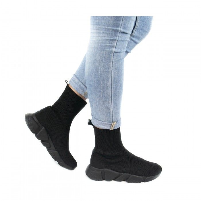 Lexa black vegane, schwarze Speed- Stretch- Sneakers für Damen