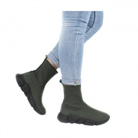 Lexa Green Vegan Boots