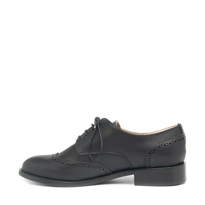 simone black derby shoes